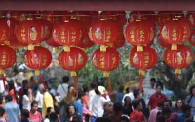 Feliz Año Nuevo Chino En China, 2019 es el año del cerdo